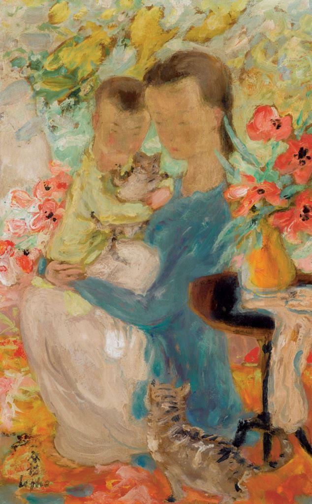 Kitten. 1962. 45.5 x 27 cm. The mixed technique