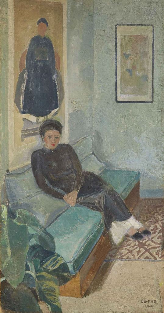 Le Thi Luu, artist's portrait. 1935. 145 x 76 см