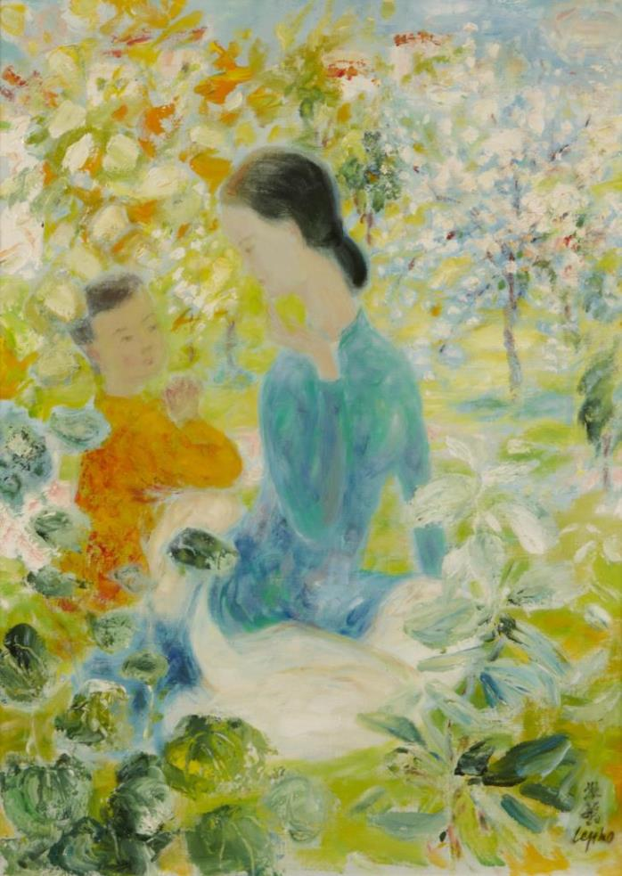 Mother and child. 73.7 x 53.4 cm