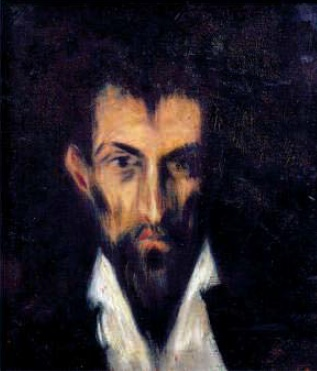 Pablo Picasso. Portrait of a stranger in the style of El Greco. 1899