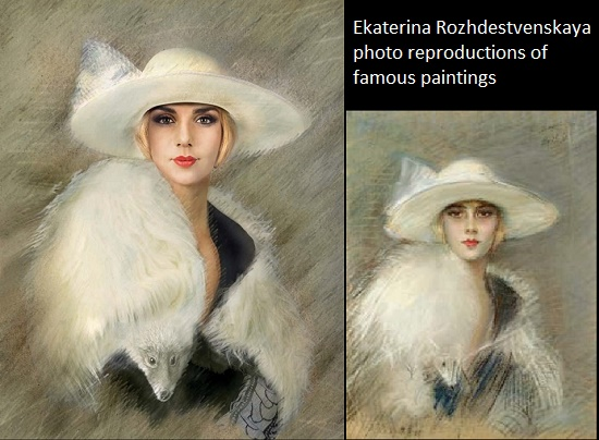 Paul Cesar Elle 'Portrait of a young woman', Anna Sedokova, Ekaterina Rozhdestvenskaya photo reproductions of paintings