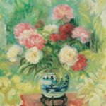 Still life with Flowers. ca. 1970. 81 x 65 cm