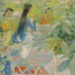 Tea in the garden. 96.5 x 130 cm