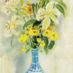 White lilies. 42 x 27 cm
