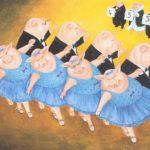 Pigs' dance