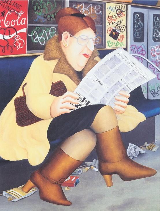 Reading in the metro