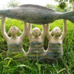 Master of garden sculpture Svetlana Semyonova