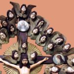 A crucifix surrounded by 34 heads of cherubs. XIX century. N.M. Kiryanov. Gabovo Village