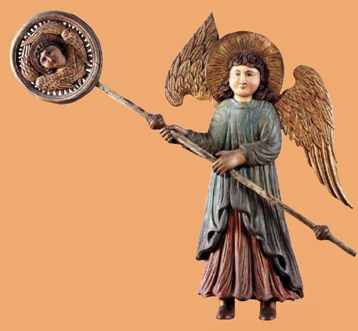 Angel with ripida. XVIII century. Village of Upper Mully