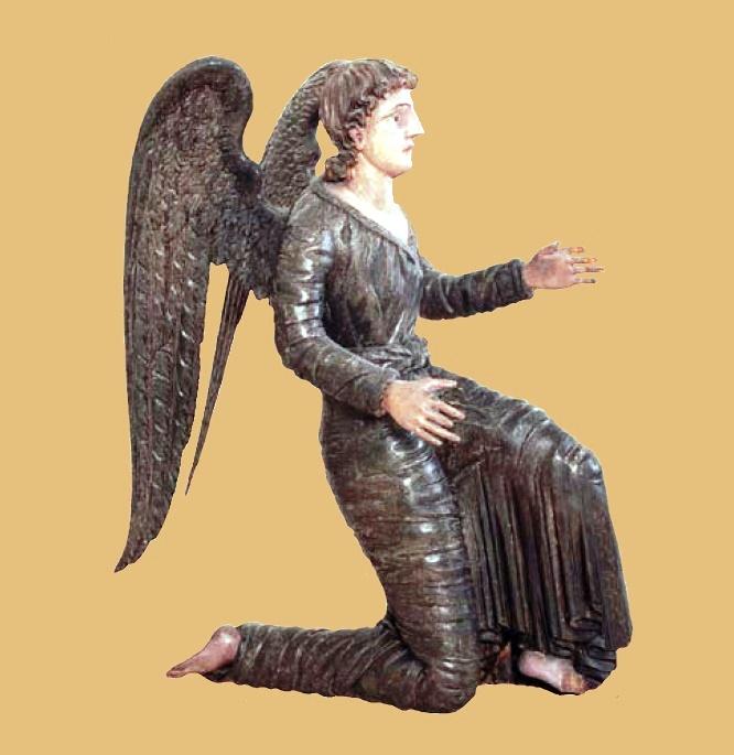 Kneeling angel. XIX century. D.T. Domnin. Village Nizhnechusovsky Gorodki