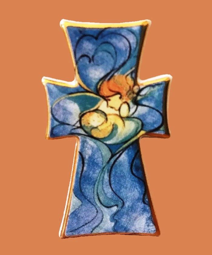 First edition 2000 Millennium Cross brooch pendant. 1999