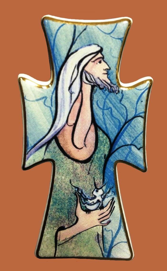 St. Francis Pocelain Brooch