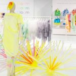 Art installation, yellow color in fashion and interior