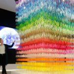 Beautiful color installation by Emmanuelle Moureaux