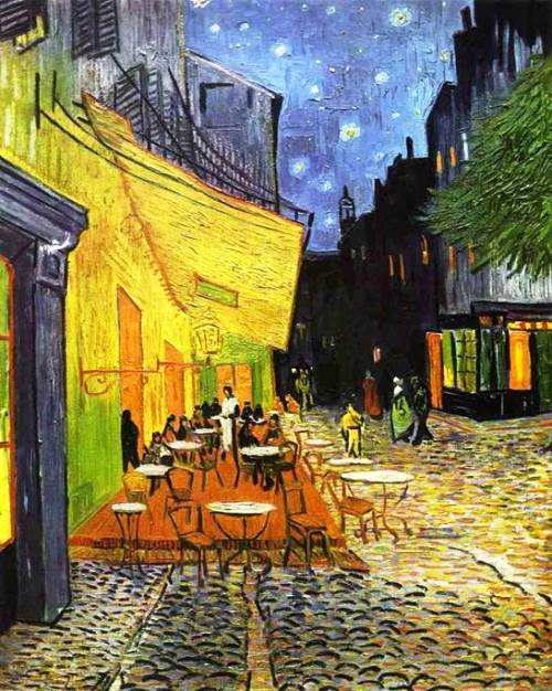 Cafe Terrace at Night, 1888. Yellow color for Vincent Van Gogh