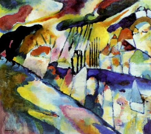 Landscape with rain. 1913. Wassily Kandinsky