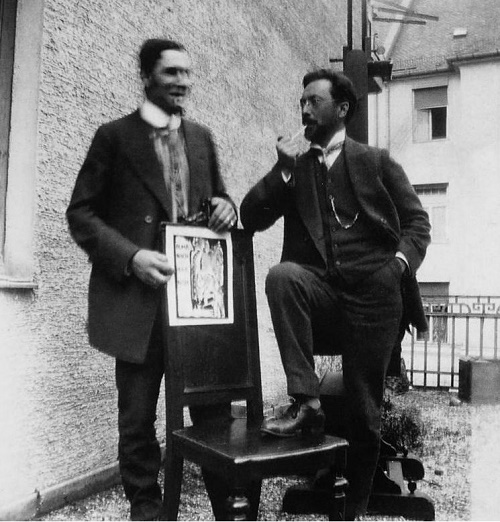 Marc and Kandinsky with the almanac