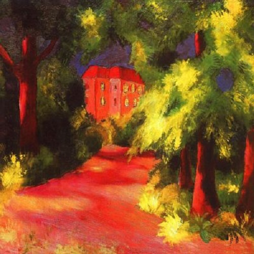 Red House in the park. August Macke