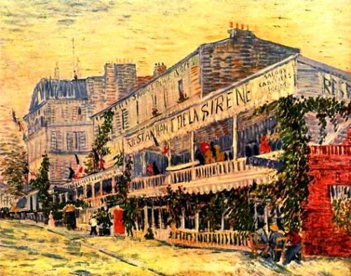 Restaurant 'Siren' 1887. Yellow color for Van Gogh