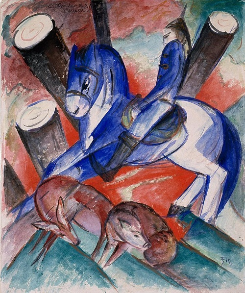 St. Julian the Hospitaler (1913), Solomon R. Guggenheim Museum, New York. Franz Marc