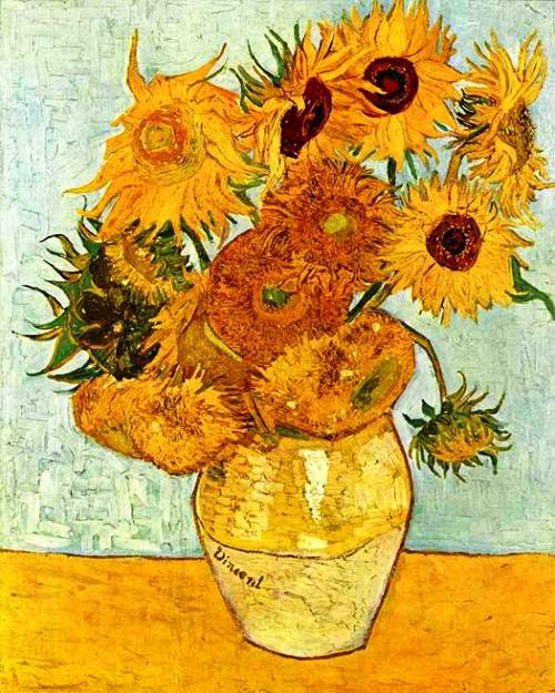 Undoubtedly, yellow was the favorite color for the great master. Sunflowers 1888