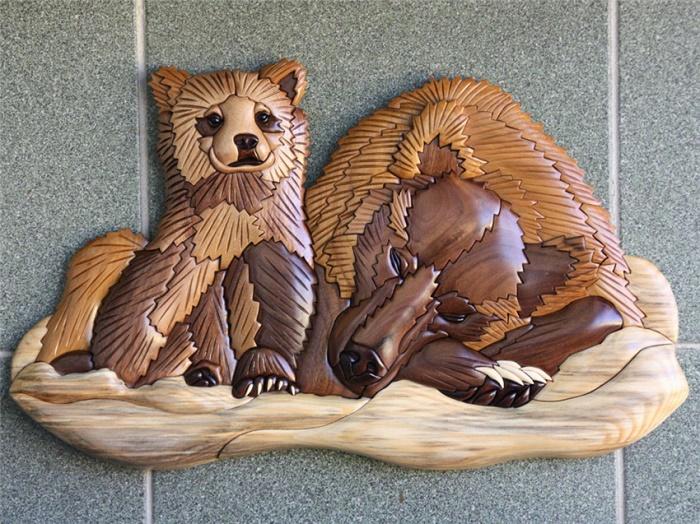 Bear cub with bear