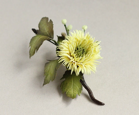 Tatyana Biota realistic flower brooches