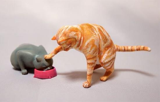 Japanese artist Meetissai Internet Meme sculptures