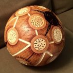 Beautiful gourd carving art by Jane Mawson