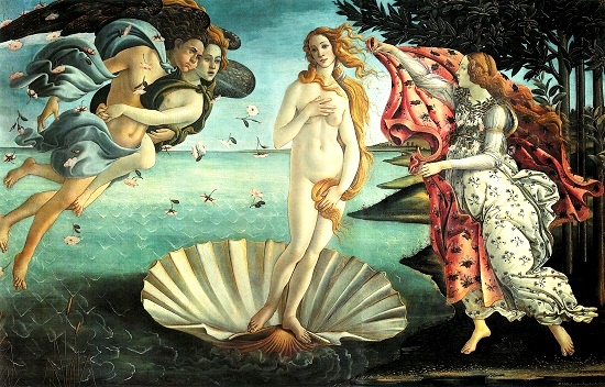 Symbols encrypted in Venus by Botticelli