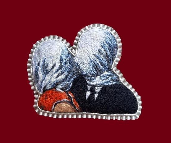 Alexandra Minati embroidered brooches