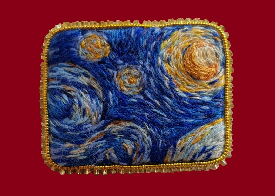 Starry Night brooch. 3.8 cm